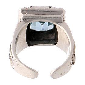 Anello vescovile con topazio sintetico argento 925 s5