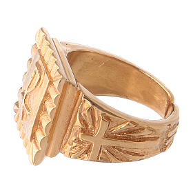 Bishop's ring Christ gold plated 925 silver s3