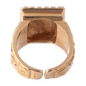 Bishop's ring Christ gold plated 925 silver s5