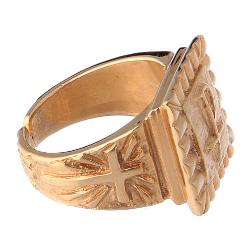 Bishop's ring Christ gold plated 925 silver 4