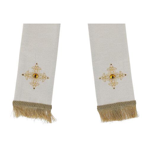 Mitra con ricamo dorato écru Limited Edition 6
