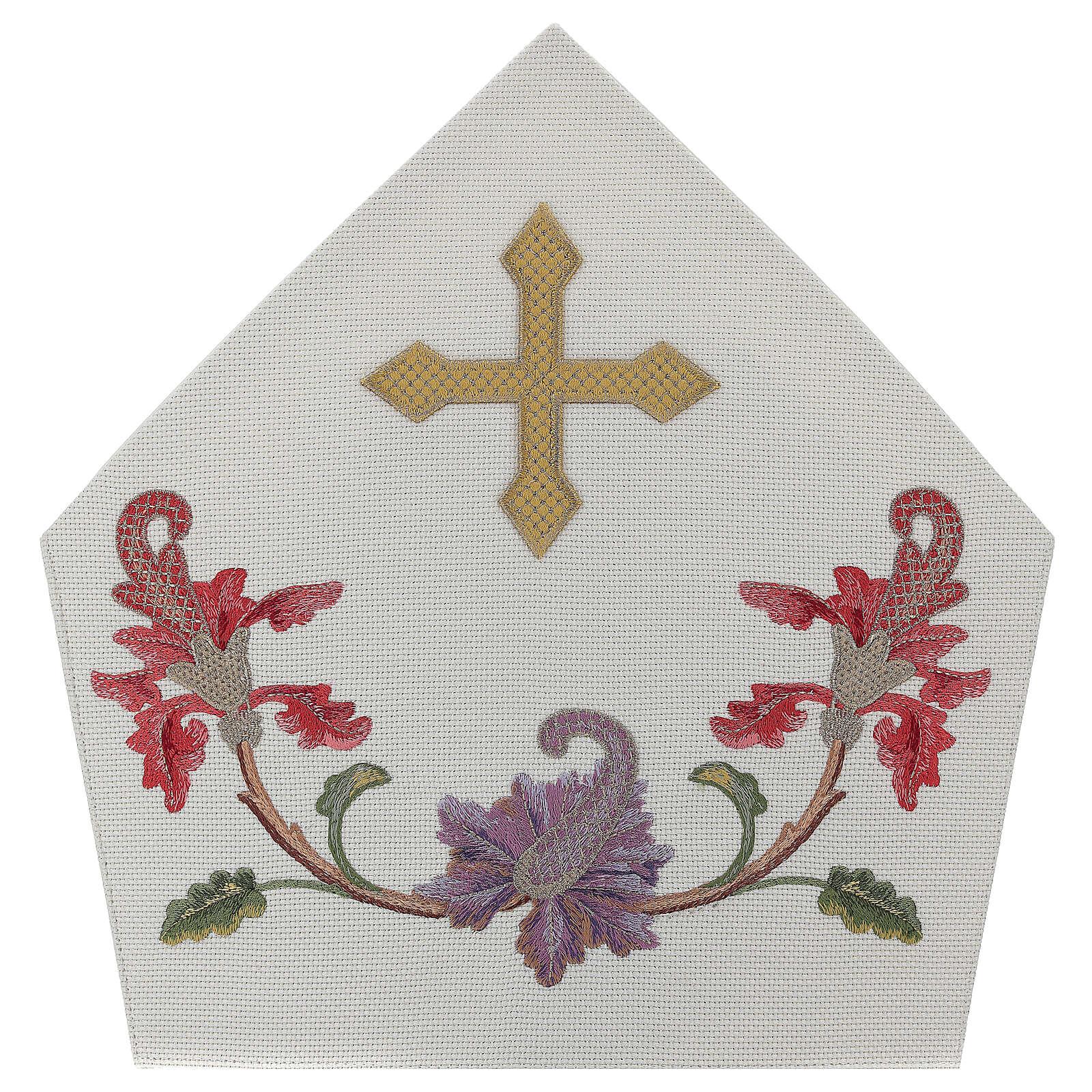 Mitra crudo con bordados florales y orlas Limited Edition 3