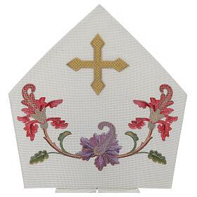 Mitra crudo con bordados florales y orlas Limited Edition s2