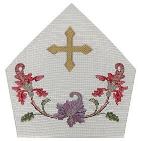 Mitra crudo con bordados florales y orlas Limited Edition s4