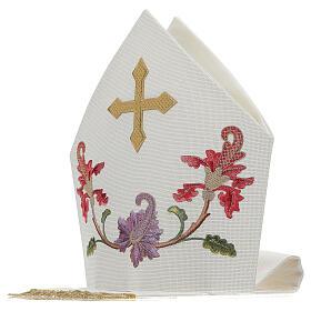 Mitra crudo con bordados florales y orlas Limited Edition s5