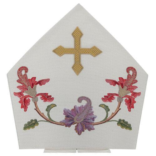 Mitra crudo con bordados florales y orlas Limited Edition 2