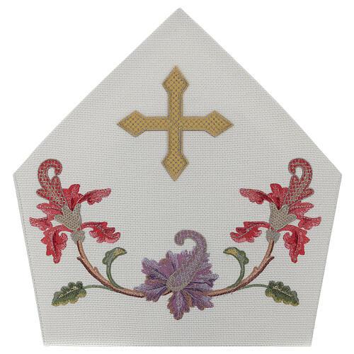 Mitra crudo con bordados florales y orlas Limited Edition 4