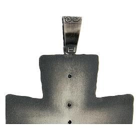 Cruz obispo plata 925 espigas rayos 9x7 cm s4