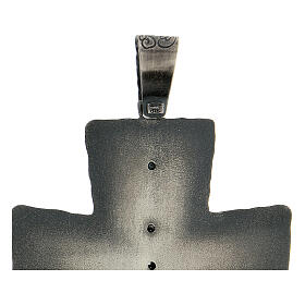 Croce vescovo argento 925 spighe raggi 9x7 cm s4