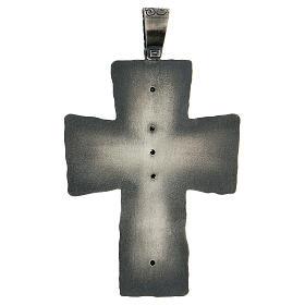 Croce vescovo argento 925 spighe raggi 9x7 cm s5
