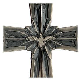 Cruz pectoral obispo plata 925 Espíritu Santo relieve s2
