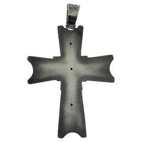 Cruz pectoral obispo plata 925 Espíritu Santo relieve s5