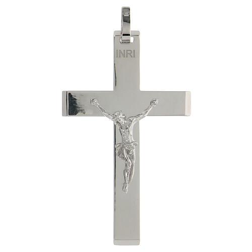 Croix épiscopale argent brillant 925 corps Christ relief 1