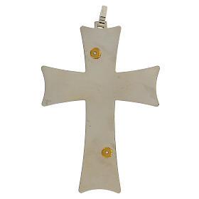 Croix épiscopale argent 925 bicolore filigrane dorée 9,5x6,5 cm s5