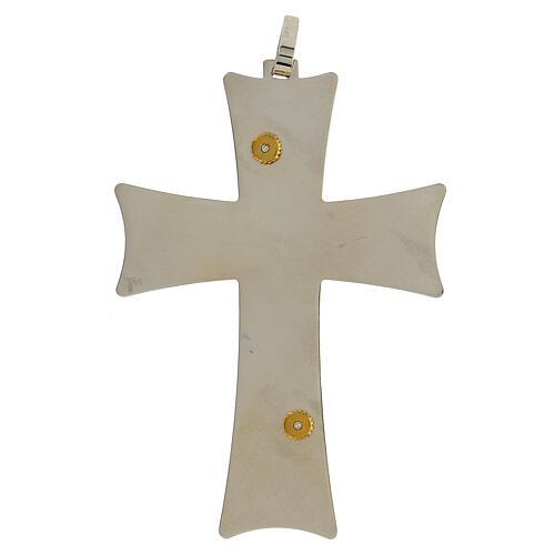 Croix épiscopale argent 925 bicolore filigrane dorée 9,5x6,5 cm 5