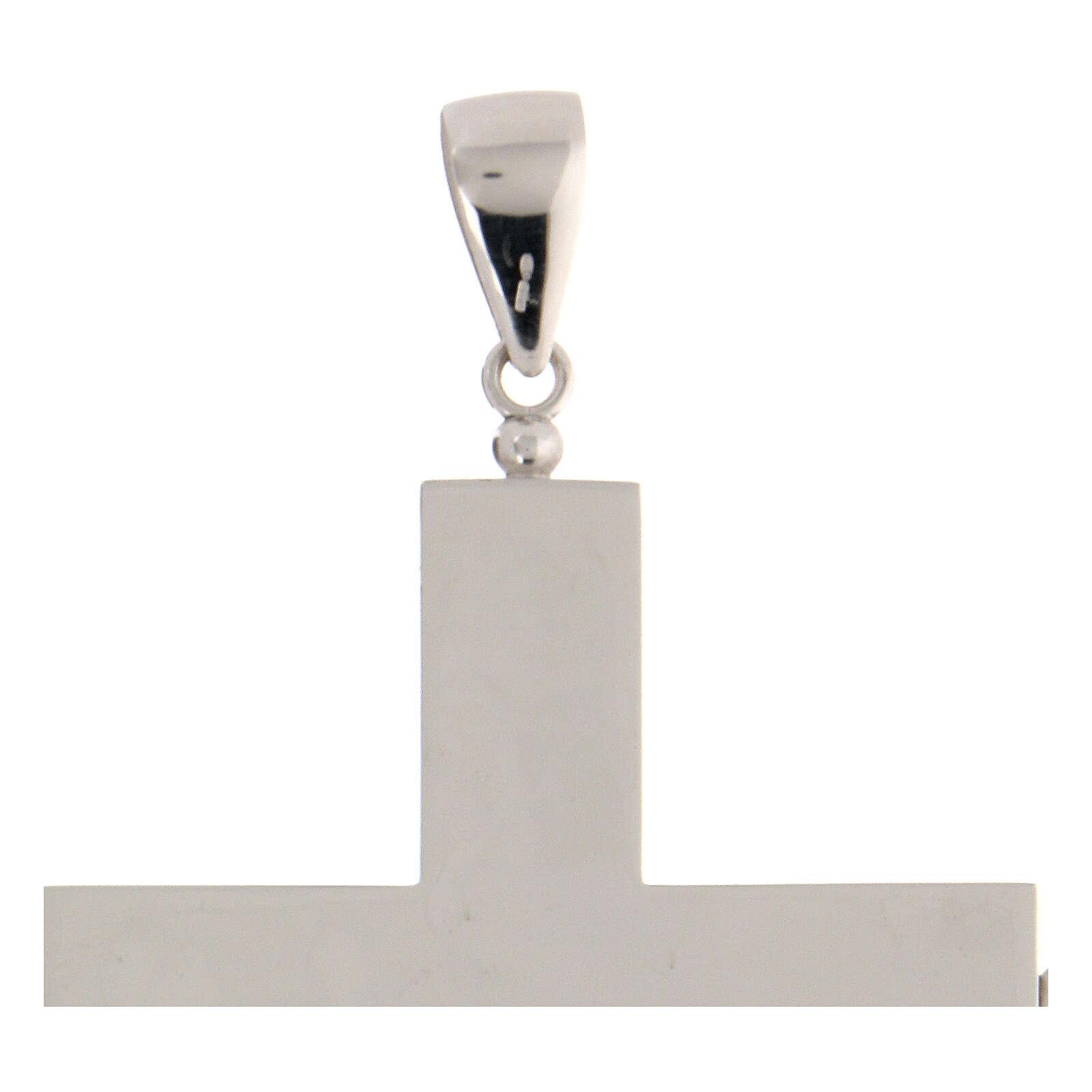 Cruz episcopal para reliquias plata 925 que se puede abrir 3