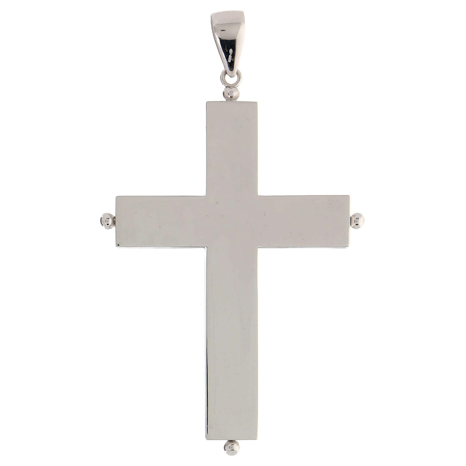 Croix épiscopale reliquaire argent 925 ouvrante 3