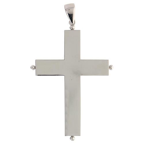 Croix épiscopale reliquaire argent 925 ouvrante 1