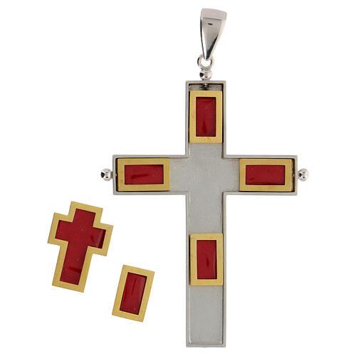 Croix épiscopale reliquaire argent 925 ouvrante 4