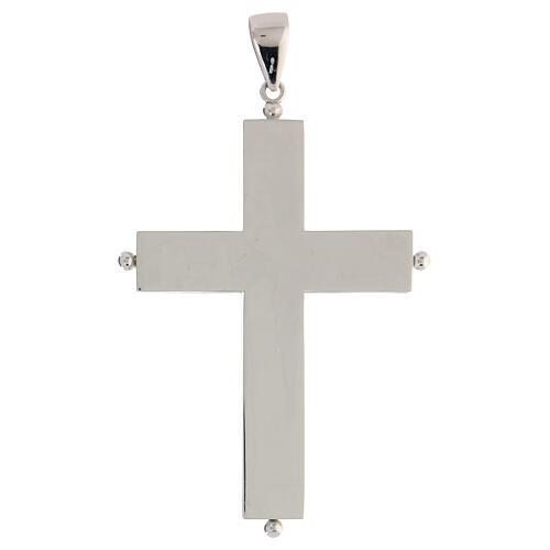Croix épiscopale reliquaire argent 925 ouvrante 6