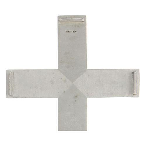 Croix épiscopale reliquaire argent 925 ouvrante 7