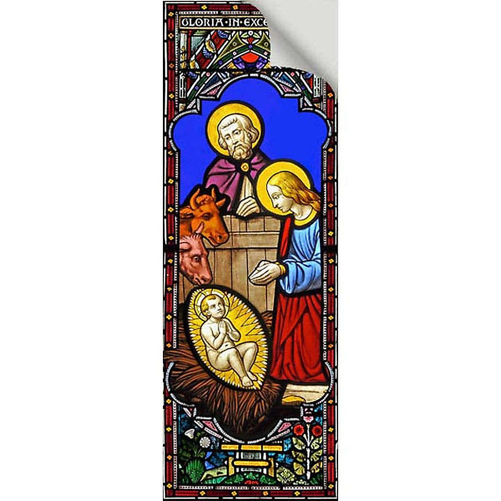 Vitrophanie Nativité, 10.5x30 cm 3