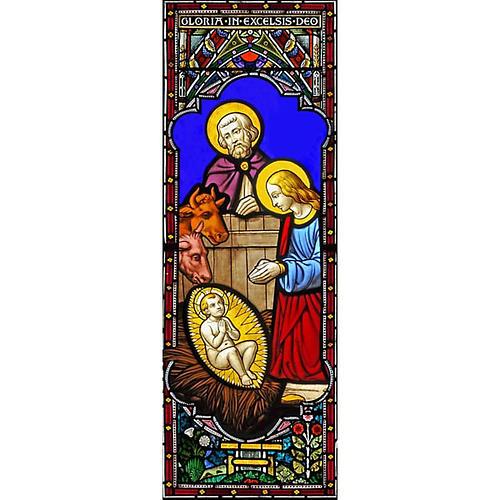 Vitrophanie Nativité, 10.5x30 cm 1