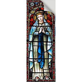 Vetrofania Madonna Incoronata 10,5X30 cm s2