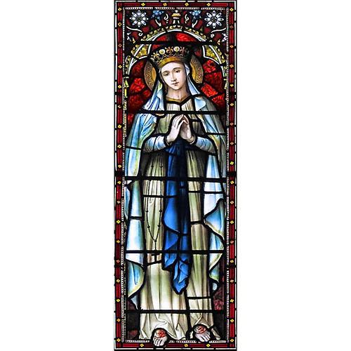 Vetrofania Madonna Incoronata 10,5X30 cm 1