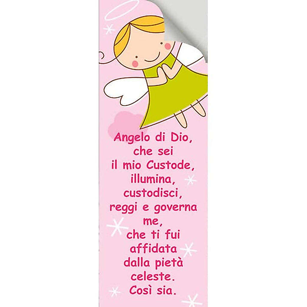 Vetrofania Angelo di Dio rosa 10,5X30 cm 3