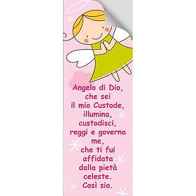 Vetrofania Angelo di Dio rosa 10,5X30 cm s2