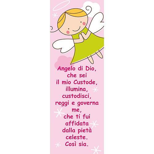 Vetrofania Angelo di Dio rosa 10,5X30 cm 1