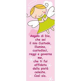 Decalque Santo Anjo cor-de-rosa 10,5x30 cm s1