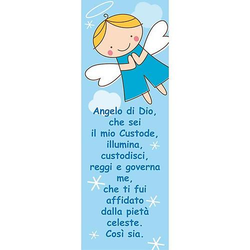Vetrofania Angelo di Dio azzurro 10,5X30 cm 1