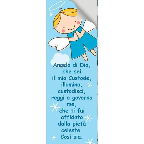 Vetrofania Angelo di Dio azzurro 10,5X30 cm 2