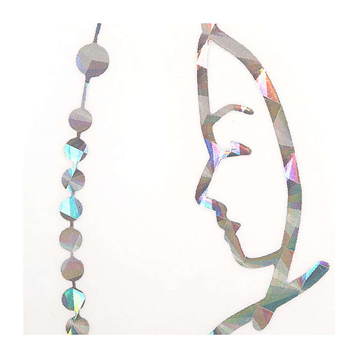 Adhesivo prismático Rosario y Virgen 3