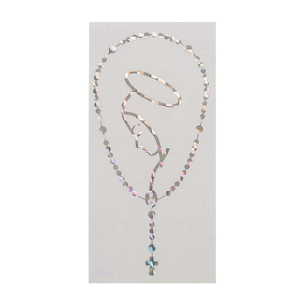 Adesivo prismatico rosario e Madonna 3