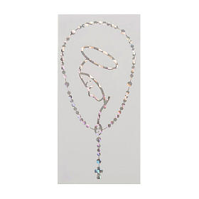 Adesivo prismatico rosario e Madonna s1