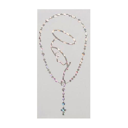 Adesivo prismatico rosario e Madonna 1