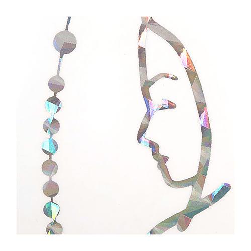 Adesivo prismatico rosario e Madonna 2