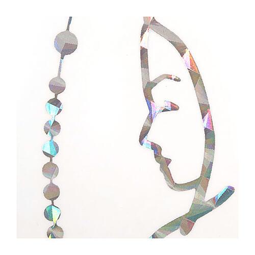 Adesivo prismático terço e Nossa Senhora 2