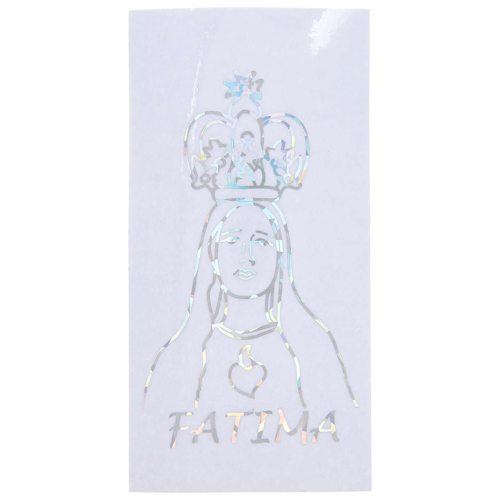 Prismatic sticker for glass Our Lady of Fatima 6x12 cm 3