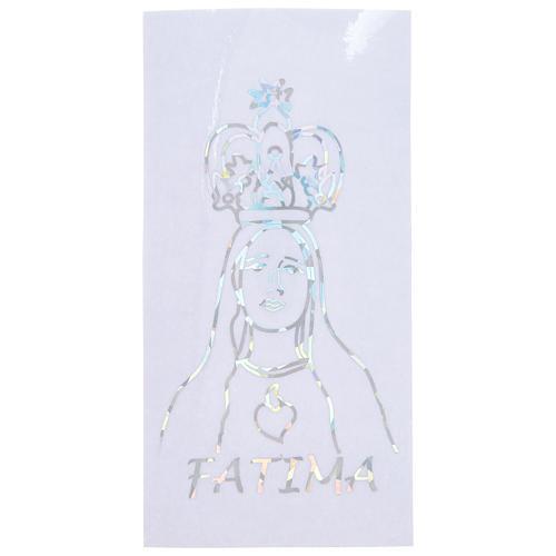 Autocollant prismatique pour vitre avec Notre-Dame de Fatima 6x12 cm 1