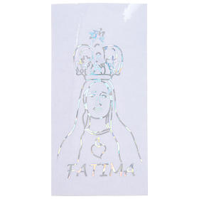 Prismatic sticker for glass Our Lady of Fatima 6x12 cm s1
