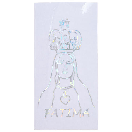 Prismatic sticker for glass Our Lady of Fatima 6x12 cm 1