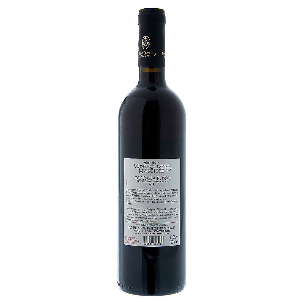 Rotwein Toskana 2015 - Abtei Monte Oliveto 750 ml 3