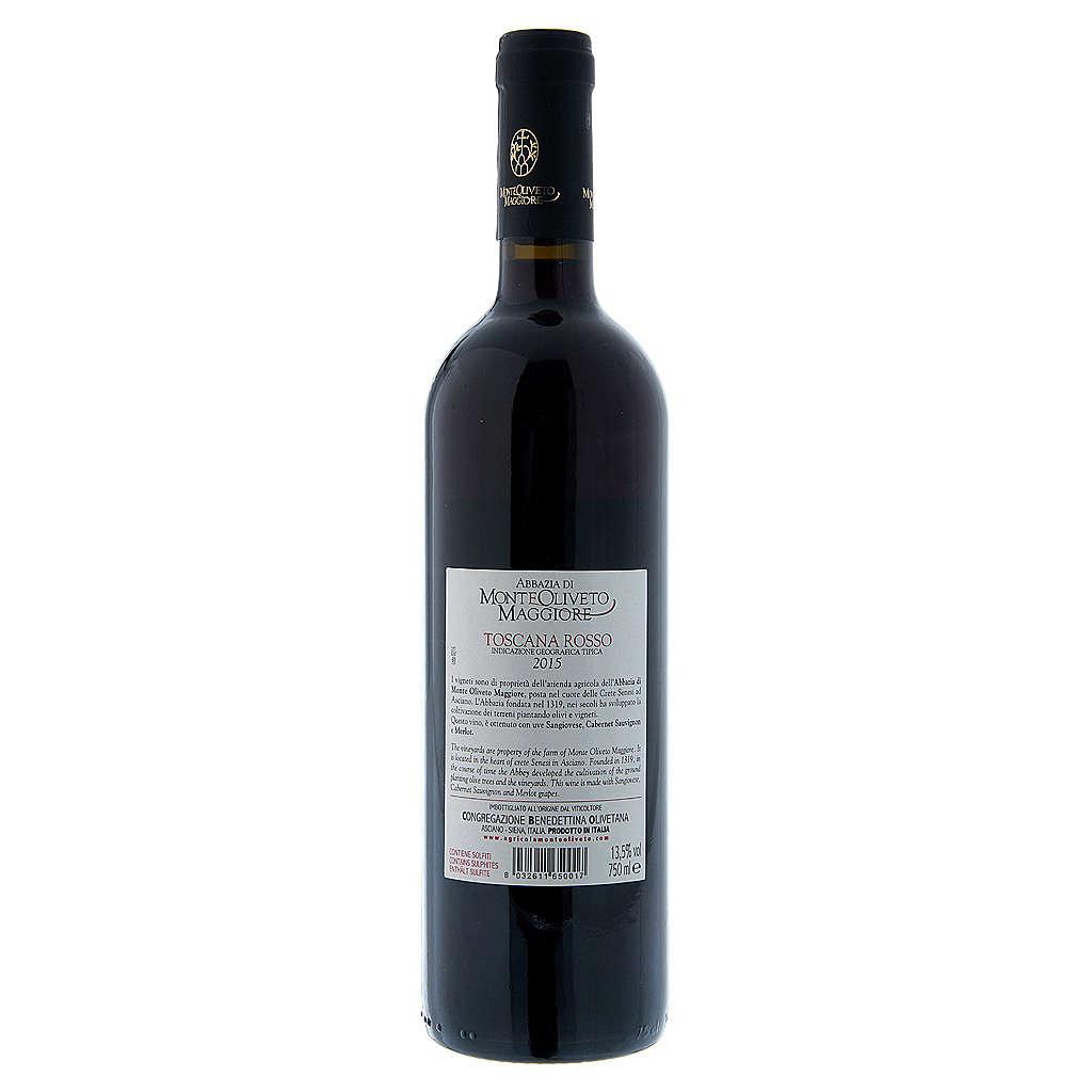 Vino Toscana Rosso 2015 Abbazia Monte Oliveto 750 ml 3