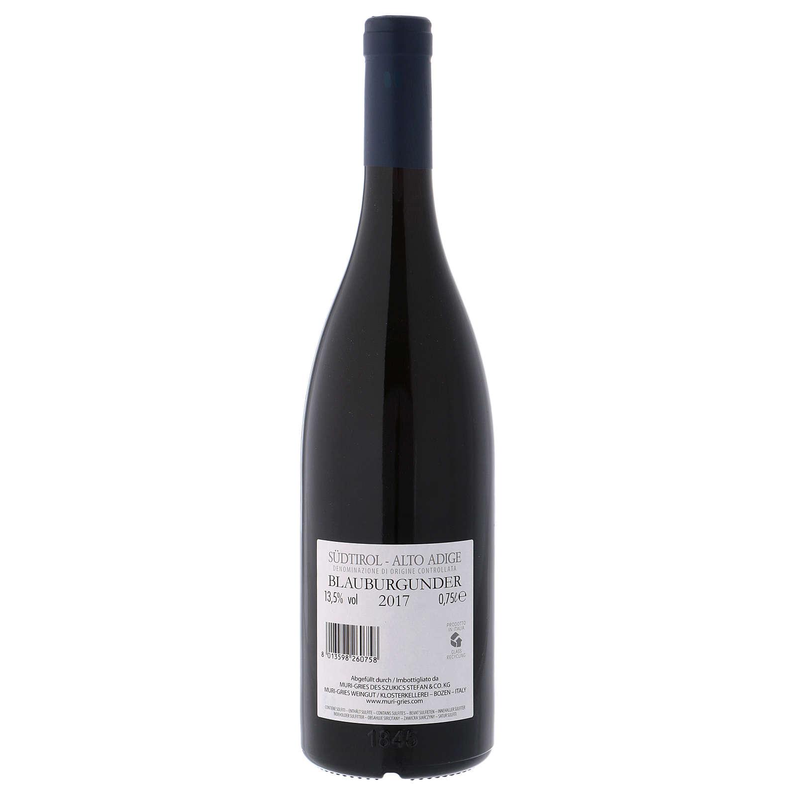 Vino Pinot Nero DOC 2017 Abbazia Muri Gries 750 ml 3