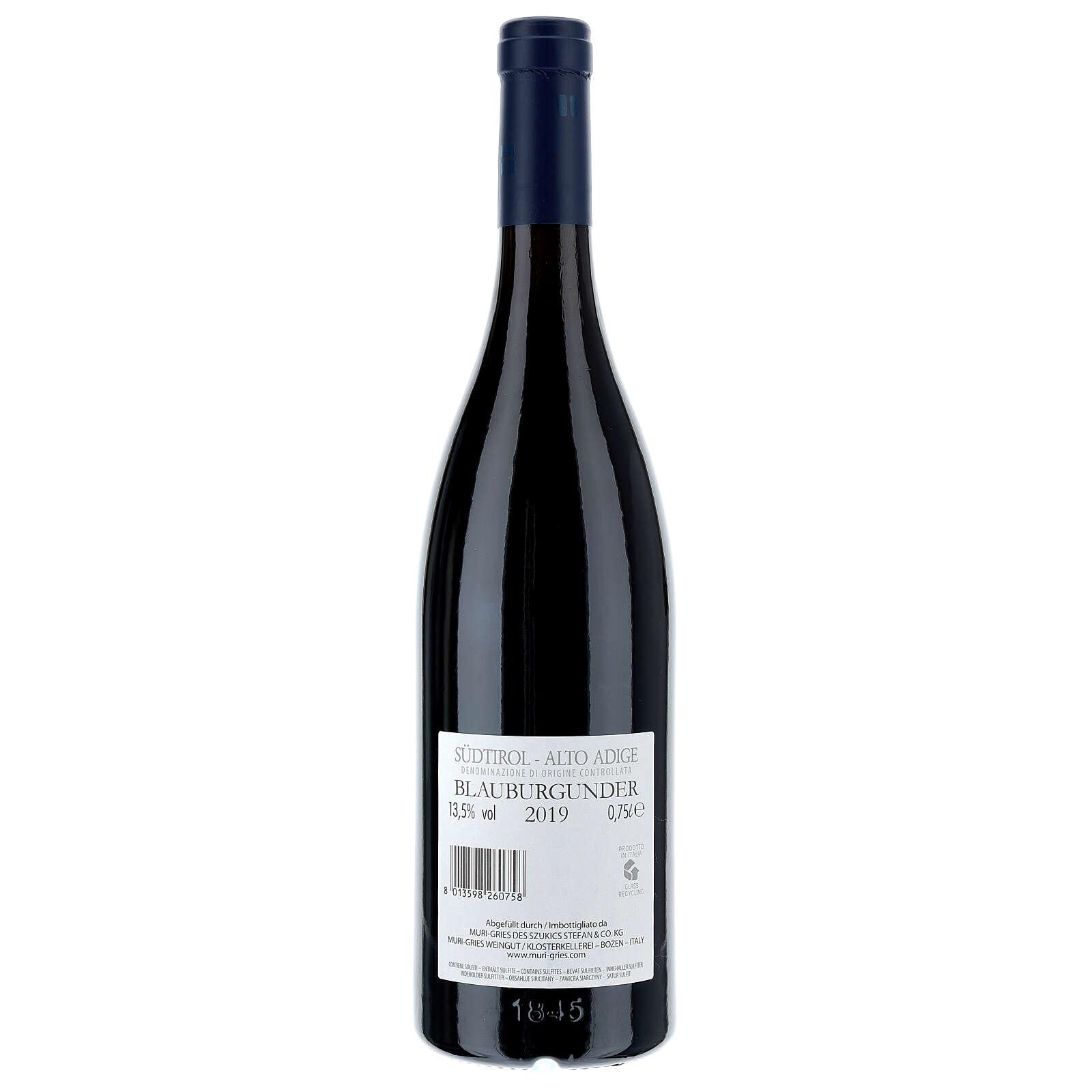 Vino Pinot Nero DOC 2019 Abbazia Muri Gries 750 ml 3