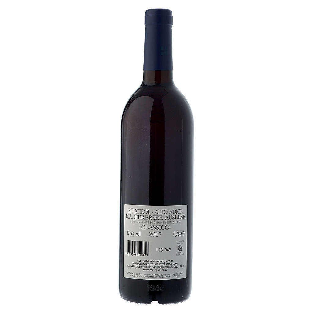 Vino Lago di Caldaro scelto  DOC 2017 Abbazia Muri Gries 750 ml 3